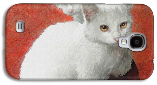 White Kittens Galaxy S4 Case by Jane Schnetlage