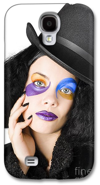 Woman Dressed As Jester Galaxy S4 Case by Jorgo Photography - Wall Art Gallery