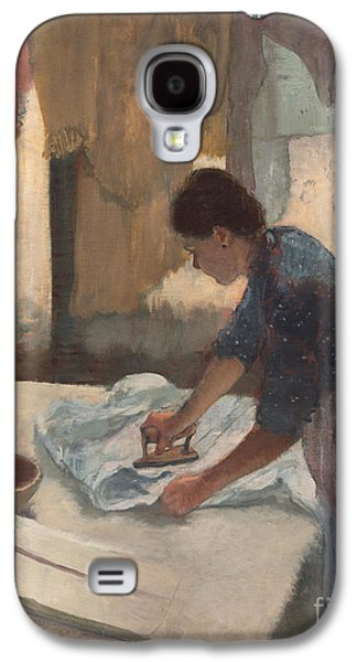 Woman Ironing Galaxy S4 Case by Edgar Degas