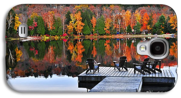 Wooden Dock On Autumn Lake Galaxy S4 Case