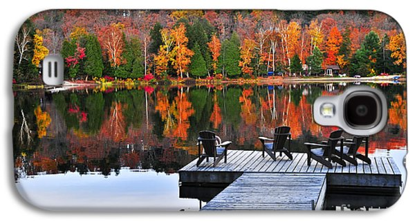 Wooden Dock On Autumn Lake Galaxy S4 Case