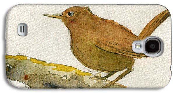 Wren Galaxy S4 Case - Wren Bird by Juan  Bosco