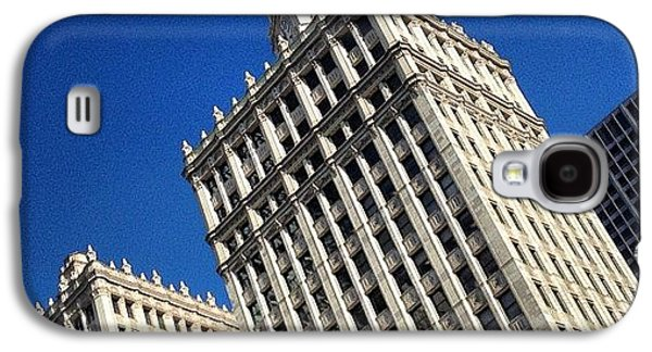 City Galaxy S4 Case - Wrigley Building- Chicago by Mike Maher