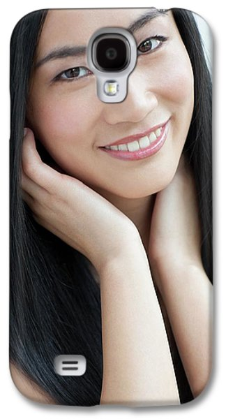 Woman Smiling Galaxy S4 Case