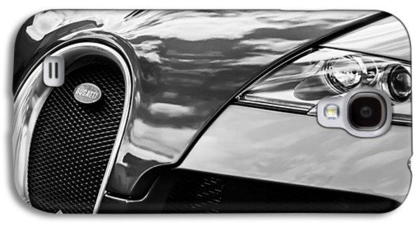 2008 Bugatti Veyron Grille Emblem -0621bw Galaxy S4 Case by Jill Reger