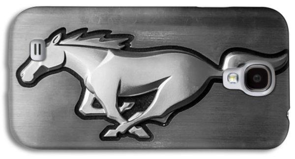 2015 Ford Mustang Prototype Emblem -0287bw Galaxy S4 Case by Jill Reger