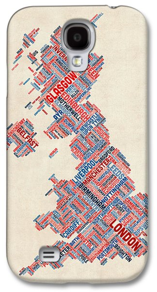 Great Britain Uk City Text Map Galaxy S4 Case by Michael Tompsett