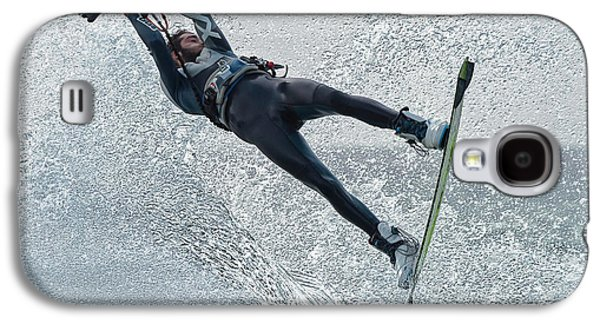A Man Kitesurfing  Tarifa, Cadiz Galaxy S4 Case by Ben Welsh