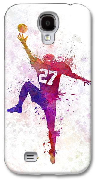 American Football Player Man Catching Receiving Galaxy S4 Case