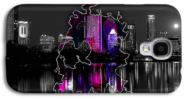 Austin Map And Skyline Watercolor Galaxy S4 Case