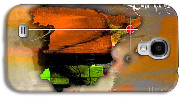 Barcelona Spain Map Watercolor Galaxy S4 Case