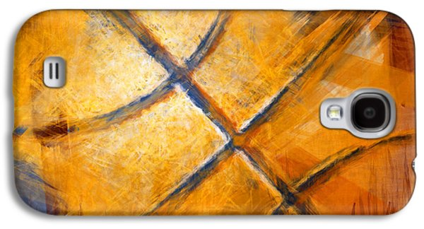 Basketball Abstract Galaxy S4 Case by David G Paul