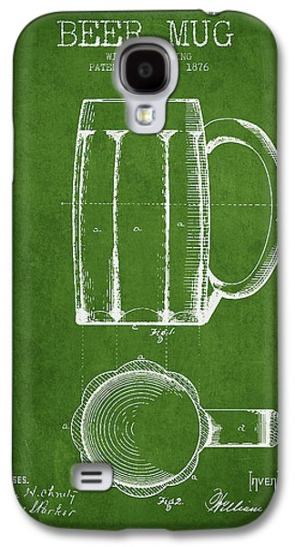 Beer Mug Patent From 1876 - Green Galaxy S4 Case