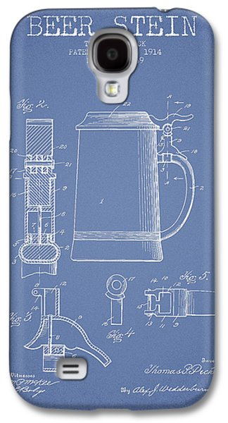 Beer Stein Patent From 1914 - Light Blue Galaxy S4 Case by Aged Pixel