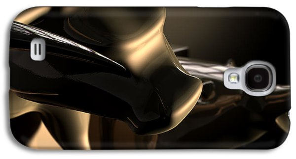 Bull And Bear Stock Market Statues Galaxy S4 Case by Allan Swart