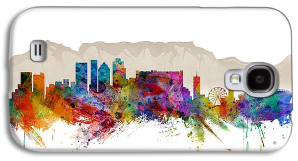 Town Galaxy S4 Case - Cape Town South Africa Skyline by Michael Tompsett