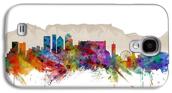 Skyline Galaxy S4 Case - Cape Town South Africa Skyline by Michael Tompsett