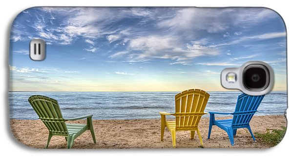 Lake Michigan Galaxy S4 Case - 3 Chairs by Scott Norris