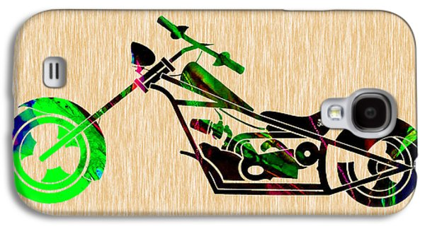 Chopper Motorcycle Galaxy S4 Case by Marvin Blaine