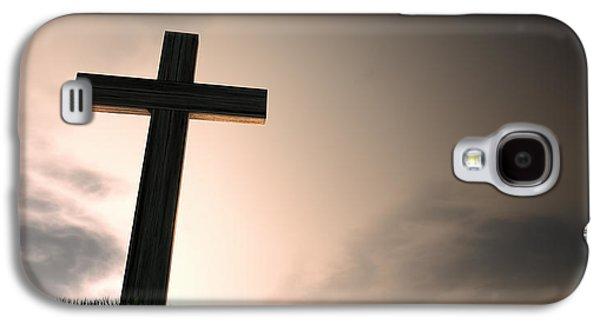 Crucifix On A Hill At Dawn Galaxy S4 Case