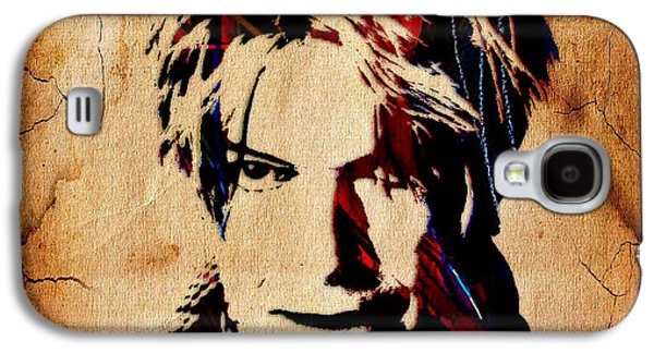 David Bowie Collection Galaxy S4 Case by Marvin Blaine