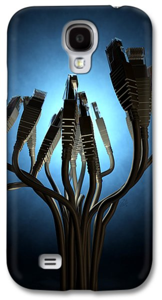 Ethernet Abstract Silhouettes Galaxy S4 Case by Allan Swart