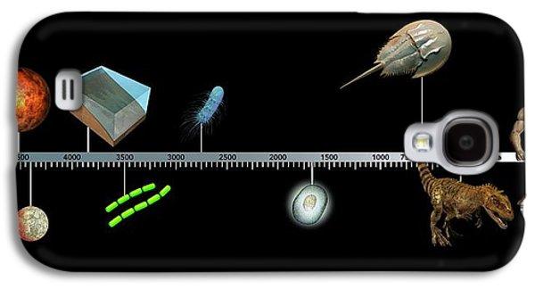 Emergence Galaxy S4 Case - Evolution Of Earth Timeline by Mikkel Juul Jensen