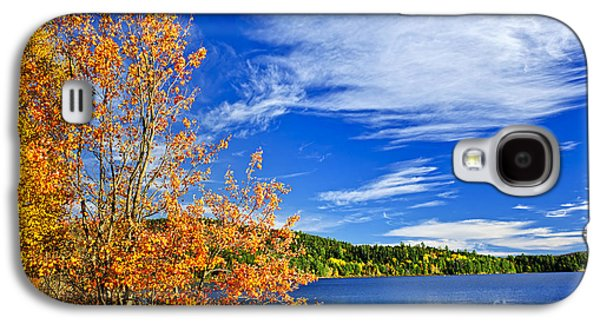 Fall Forest And Lake Galaxy S4 Case by Elena Elisseeva