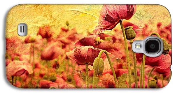 Field Of Poppies Galaxy S4 Case