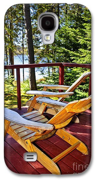 Forest Cottage Deck And Chairs Galaxy S4 Case by Elena Elisseeva
