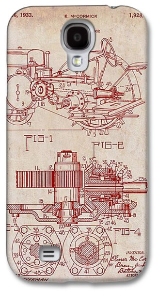 John Deere Tractor Patent 1933 Galaxy S4 Case by Mountain Dreams