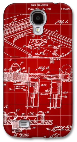 Pinball Machine Patent 1939 - Red Galaxy S4 Case by Stephen Younts