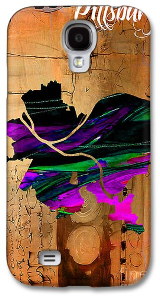 Pittsburgh Map Watercolor Galaxy S4 Case by Marvin Blaine