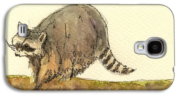 Raccoon Galaxy S4 Case - Raccoon by Juan  Bosco