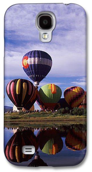 Reflection Of Hot Air Balloons Galaxy S4 Case by Panoramic Images