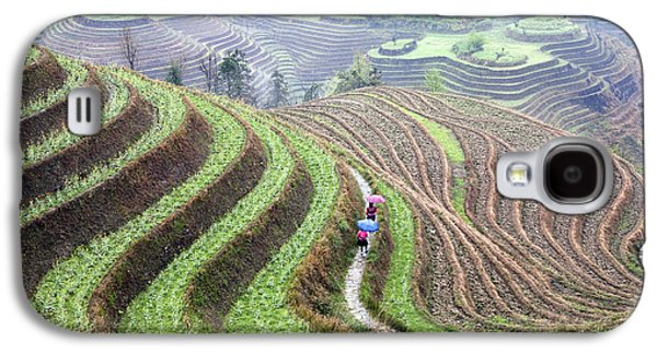 Rice Terraces Galaxy S4 Case by King Wu