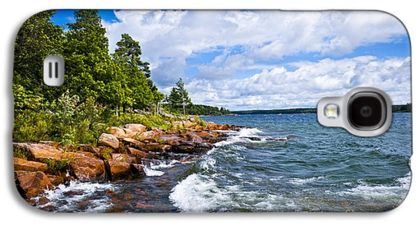 Rocky Shore Of Georgian Bay Galaxy S4 Case by Elena Elisseeva