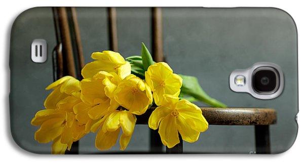 Tulip Galaxy S4 Case - Still Life With Yellow Tulips by Nailia Schwarz