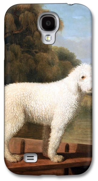 Stubbs' White Poodle In A Punt Galaxy S4 Case by Cora Wandel