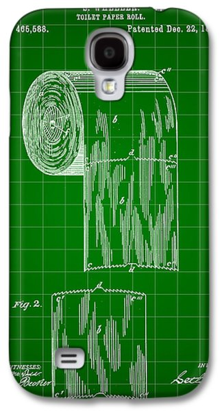 Toilet Paper Roll Patent 1891 - Green Galaxy S4 Case