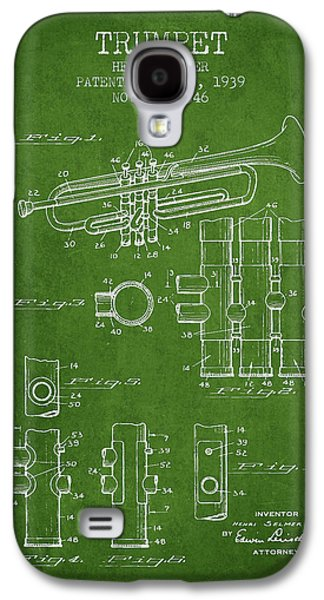 Trumpet Patent From 1939 - Green Galaxy S4 Case by Aged Pixel