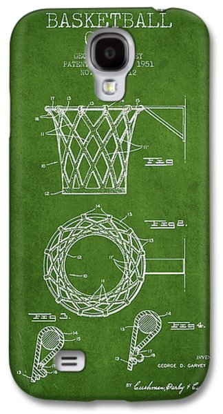 Vintage Basketball Goal Patent From 1951 Galaxy S4 Case