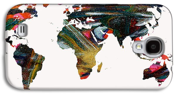 World Map And Human Life Galaxy S4 Case by Augusta Stylianou