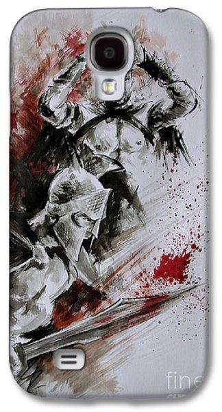 300 Spartan - Death And Glory. Galaxy S4 Case by Mariusz Szmerdt