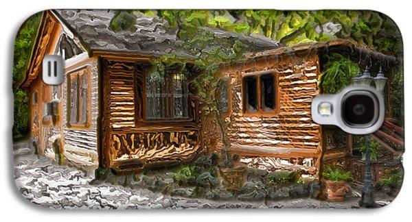 Wood Cabin Galaxy S4 Case by Carlos Diaz