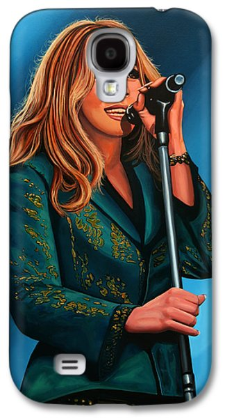 Anouk Painting Galaxy S4 Case by Paul Meijering