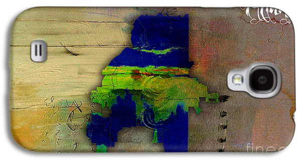 Atlanta Map Watercolor Galaxy S4 Case by Marvin Blaine