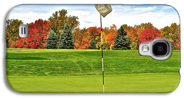 Autumn Golf Galaxy S4 Case by Frozen in Time Fine Art Photography
