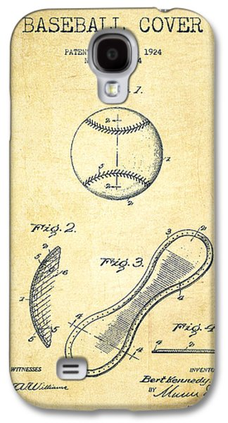 Baseball Cover Patent Drawing From 1924 Galaxy S4 Case by Aged Pixel