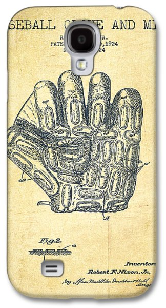 Baseball Glove Patent Drawing From 1924 Galaxy S4 Case